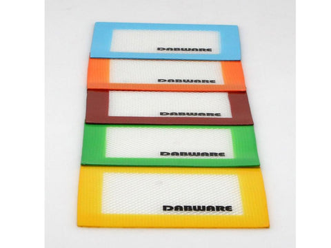 "DabWare Silicone Pad / Mat 4.5x3.5"" Mini Assorted Colors DW008"
