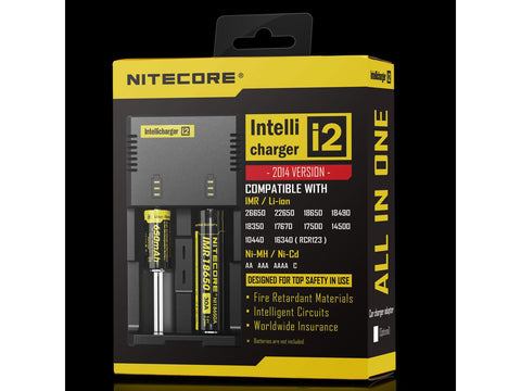 Nitecore i2-NEW Battery Charger & Reconditioner For Rechargeable Lithium Ion Batteries etc.