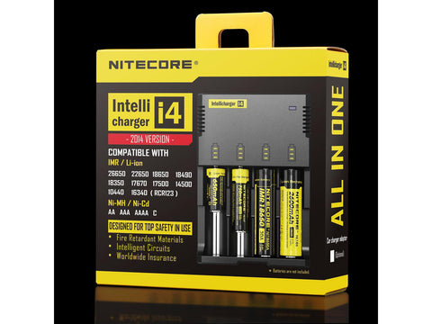 Nitecore i4 Battery Charger & Reconditioner For Rechargeable Lithium Ion Batteries 18650 etc.