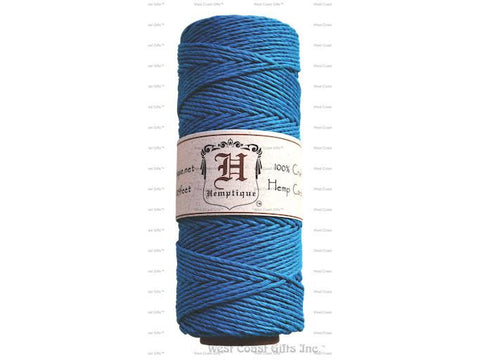 Hemptique - Hemp Cord - 20 LB 50 Gram Spool - Light Blue / Turquoise