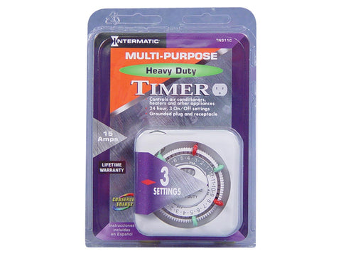 Intermatic Manual Heavy-Duty Plug-In Timer 120V