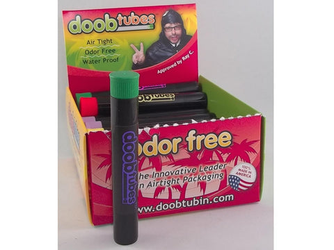DoobTube Air-Tight Joint Tube - Regular Size Black w/ Colored DoobTubes Logo