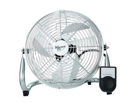 "Wind Devil 9"" 3-Speed Floor Fan for Air Circulation - Great for Tents!"