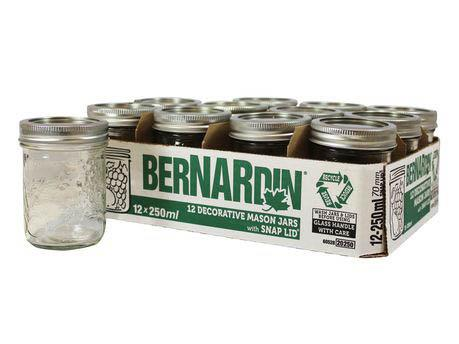 Bernardin Mason Jar Widemouth 250ml Tall 17767