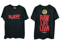 RAW TShirt Mens Life Livin Black