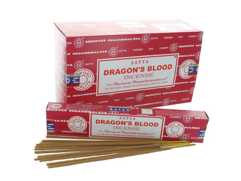 Satya Sai Baba Incense Sticks - (Nag Champa) Dragon's Blood 15g Box