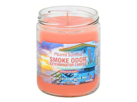 Smoke Odor Exterminator Candle 13oz - Miami Sunrise