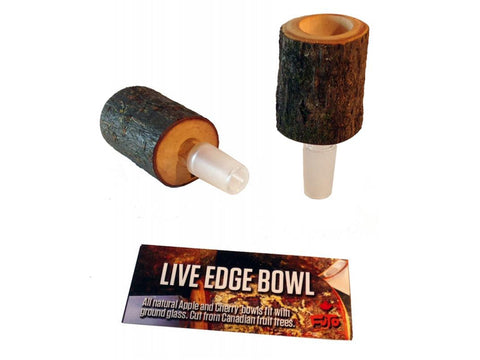Futo Live-Edge AppleWood or Cherry Bowl w/ 14mm Male Joint 18054