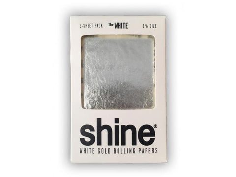 Shine 24K White Gold 1-1/4 Size Rolling Paper - 2-Pack