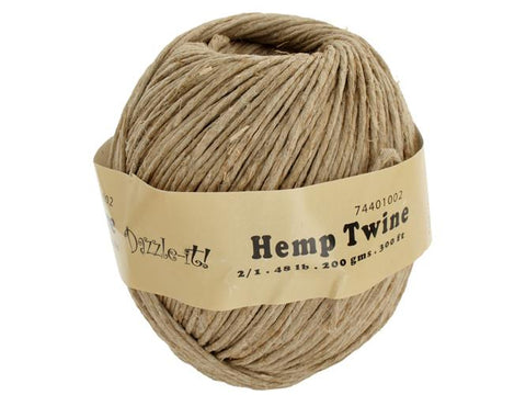 Hemp Twine 48lb - 205.5ft Ball 1833