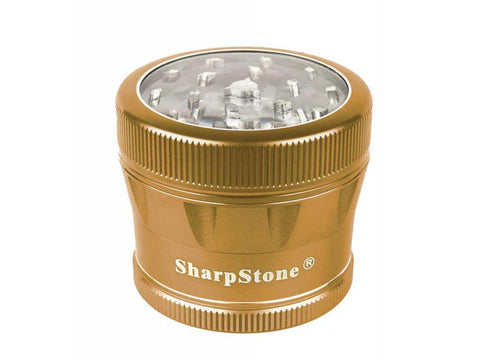 "SharpStone V2 Clear Top 4 Piece Grinder 2.2"" Color Choices"