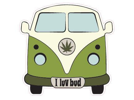 SWAG Sticker - I Luv Bud (VW Bus)