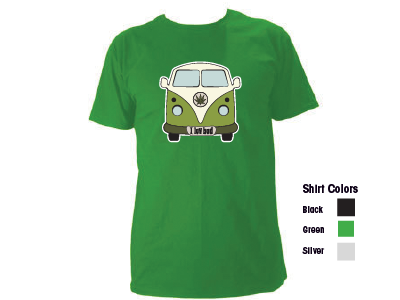 vSWAG T-Sihrt - I Luv Bud (VW Bus) Black