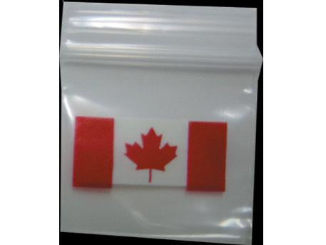 Apple Brand Zipper Lock 100pack Various Sizes Available - Pattern - Canada Flag