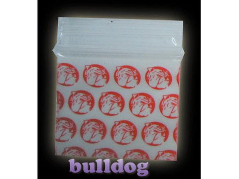 Apple Brand Zipper Lock 100pack Various Sizes Available - Pattern - BullDog Red