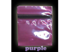 Apple Brand Zipper Lock 100pack Various Sizes Available - Color - Purple