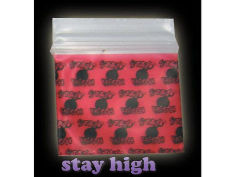 Apple Brand Zipper Lock 100pack Various Sizes Available - Pattern - Stay High Bomb