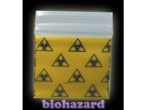Apple Brand Zipper Lock 100pack Various Sizes Available - Pattern - BioHazard