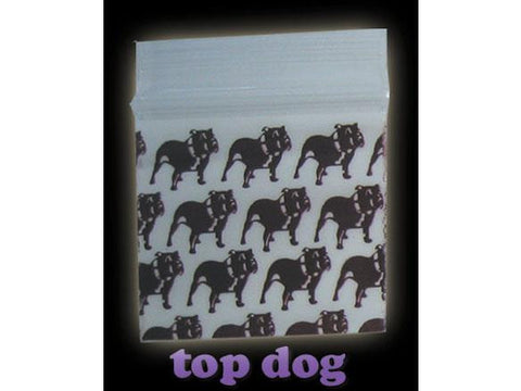 Apple Brand Zipper Lock 100pack Various Sizes Available - Pattern - Top Dog Black