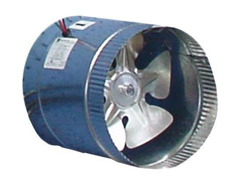Can-Arm 1-Speed In-Duct Fan for Air Intake / Exhaust 255CFM 6''