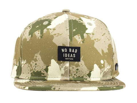 No Bad Ideas Stash Hat - Dab Desert Camo Snapback Baseball Cap