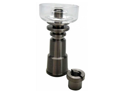 Q-Sci Hybrid Domeless Grade2 Titanium Nail W/ Quartz Dish 14&19mm Male & Female