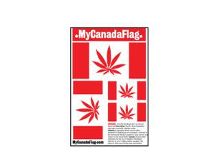 "SWAG Sticker Mixed Pack Assortment ""StickerPack"" - My Canada Flag (Pot Leaf Flag)"