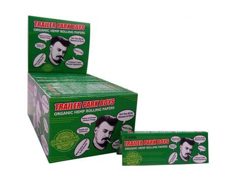 Trailer Park Boys Rolling Papers Organic Hemp 1-1/4 Size 32/pack 50/box Ricky