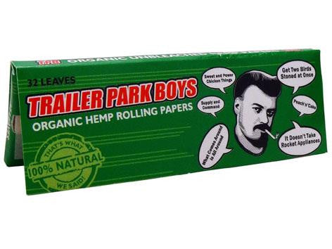 Trailer Park Boys Rolling Papers Organic Hemp 1-1/4 Size 32/pack Ricky-isms