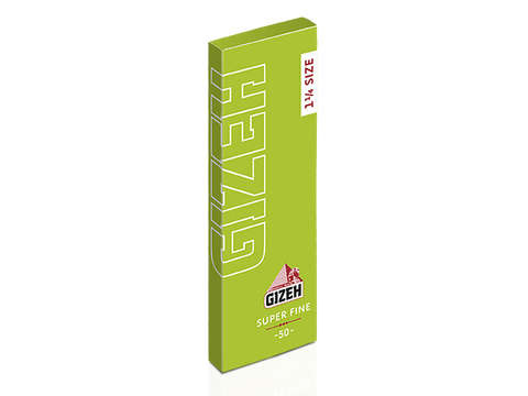 Gizeh Rolling Papers 1-1/4 Size Super-Fine Cut-Corners 50/pack 25/box