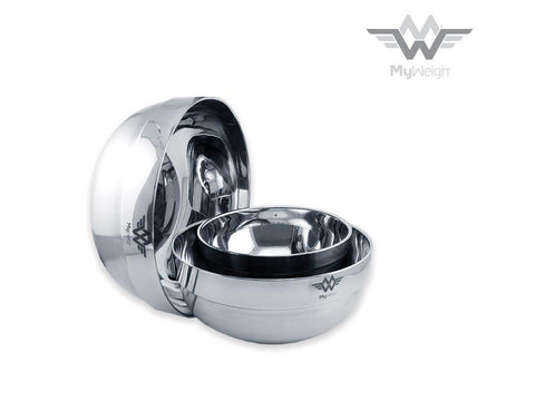 MyWeigh Metal Bowl Set 3-piece Stainless Steel for Weighing / Scales