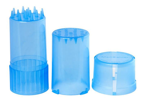 MedTainer Air- & Water-Tight Medical Grade Plastic Container & Grinder - No Logo - Translucent