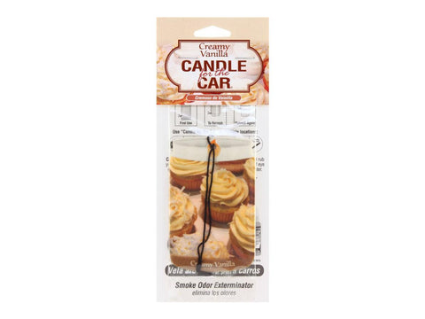 "Smoke Odor Exterminator ""Candle For The Car"" Car Air Freshener - Creamy Vanilla"