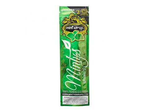 Minty's Organic 100% Mint Leaf Wrap 2/pack W/Tips 25/box