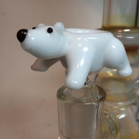 Glass Peddler (Kent Dale) Bowl 14mm Animal - Polar Bear