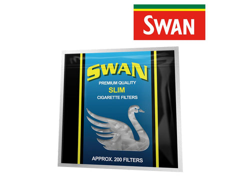 Swan Cigarette / Joint Filters Slim 200/pack Bag 13/case 20203