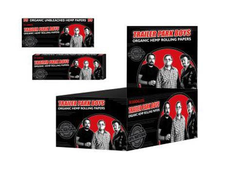 Trailer Park Boys Rolling Papers Organic Hemp 1-1/4 Size 32/pack 50/box Group Shot