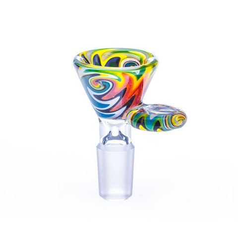 HOSS Glass Bowl - Cone Color Reversal (Wig-Wag) 19mm YX35