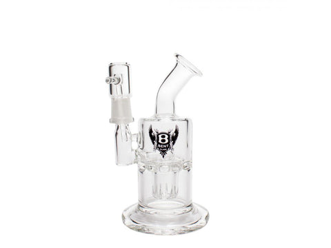 "BENT Glass WaterPipe - Bubbler Rig 6"" Drone Reaper Down Capsule Perc 14mm Male C19"