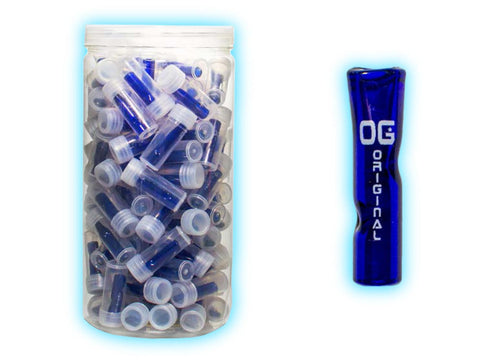 OG Original Glass Tips Glass Rolling Filter Tip - Colored Flat