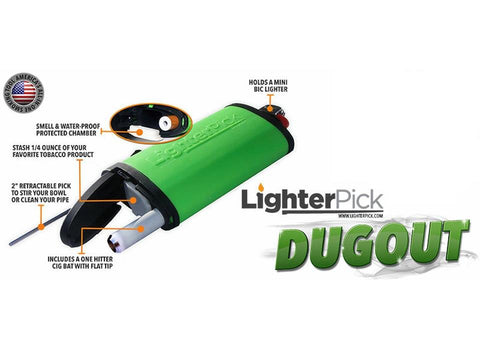 LighterPick All-In-One Dugout Smoking Tool Fits Mini Bic Lighter Asstd Colors 20458