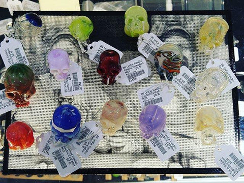 DRo Glass Carb Cap Skull Assorted Colors