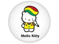 "SWAG Magnet - 1.25"" Round - Mello Kitty 2126"