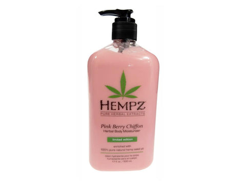 Hempz Herbal Body Moisturizer - Pink Berry Chiffon - 17oz