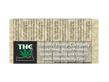 THC Branded Filter-Perforated Business Card All Natural Paper and Inks