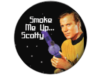 "SWAG Button - 1.25"" With Rotating Pin - Smoke Me Up Scottie 2148"