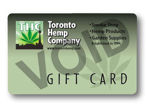 THC Gift Card Usable In-Store not Online (Priced Minus Tax)