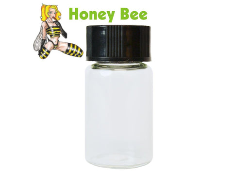 Honey Bee Glass Vial For Scraper Funnel 14.4ml 189/pack