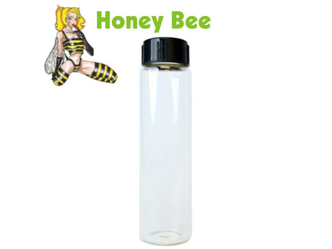 "Honey Bee Glass Vial For Scraper Funnel 28.8ml 0.5"" Opening 189/pack"