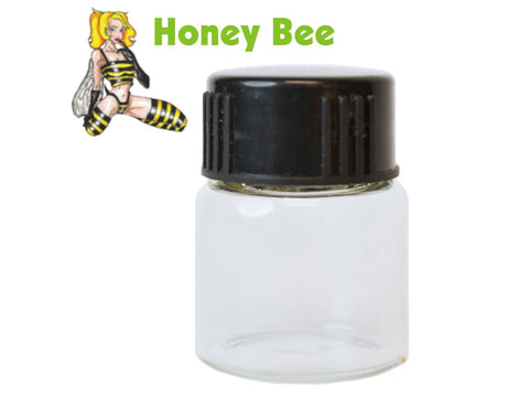 "Honey Bee Glass Vial For Scraper Funnel 7.2ml 0.5"" Opening 182/pack"